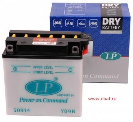 Baterie motocicleta LANDPORT LP YB9B DRY POWER ON COMMAND 12V 9AH
