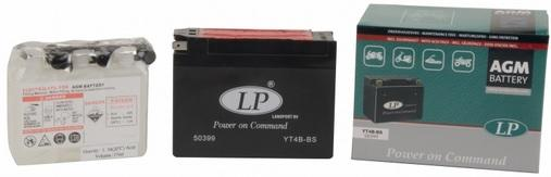 Baterie motocicleta LANDPORT LP YT4B-BS AGM POWER ON COMMAND 12V 2.3AH