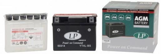 Baterie motocicleta LANDPORT LP YT4L-BS AGM POWER ON COMMAND 12V 3AH