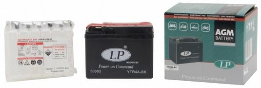 Baterie motocicleta LANDPORT LP YTR4A-BS AGM POWER ON COMMAND 12V 2.3AH