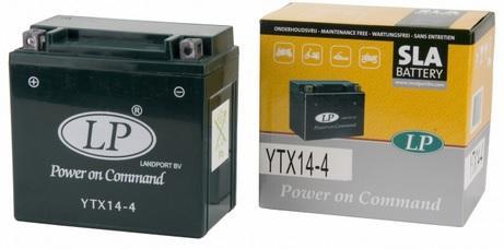 Baterie motocicleta LANDPORT LP YTX14-4 POWER ON COMMAND 12V 12AH