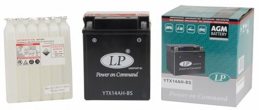 Baterie motocicleta LANDPORT LP YTX14AH-BS AGM POWER ON COMMAND 12V 12AH