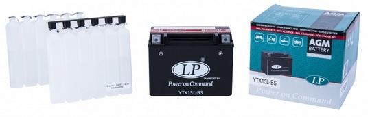 Baterie motocicleta LANDPORT LP YTX15L-BS AGM POWER ON COMMAND 12V 13AH