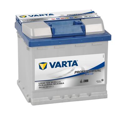 Baterie auto VARTA 930052047B912 Professional Starter 12V 52AH 470A