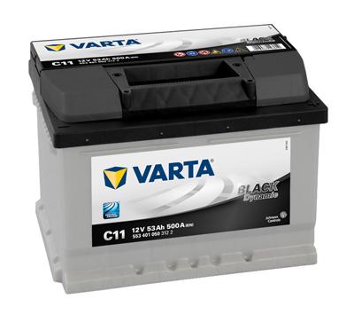 Baterie auto VARTA C11 5534010503122 BLACK Dynamic 12V 53AH 500A