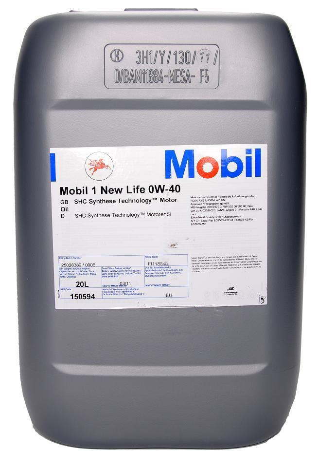 ULEI MOTOR MOBIL 1 NEW LIFE 0W40 20L