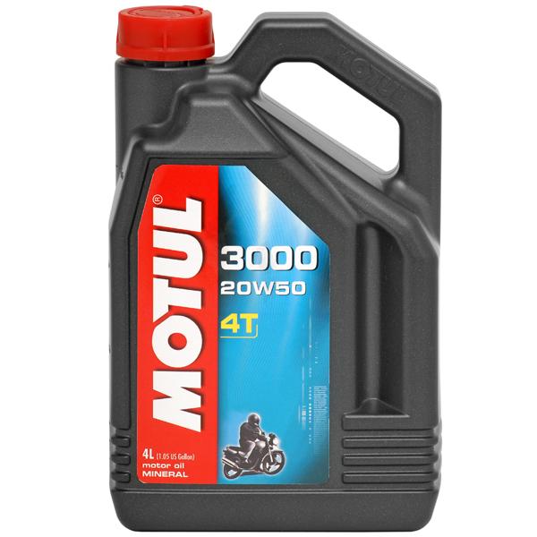 ULEI MOTOR MOTOCICLETA MOTUL 3000 4T 20W50 4L