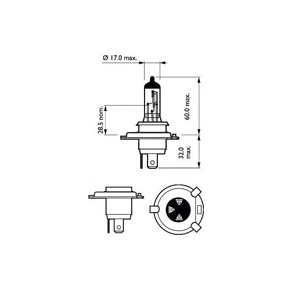 BEC AUTO PHILIPS 12342PRBW VISION H4 12V 60/55W