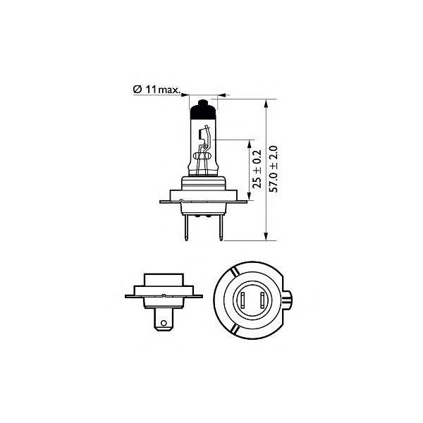 BEC AUTO PHILIPS 12972XVBW X-TREME VISION MOTO H7 12V 55W
