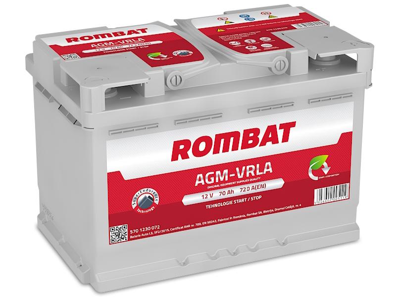 Baterie auto ROMBAT AGM VRLA 12V 70AH, 720A