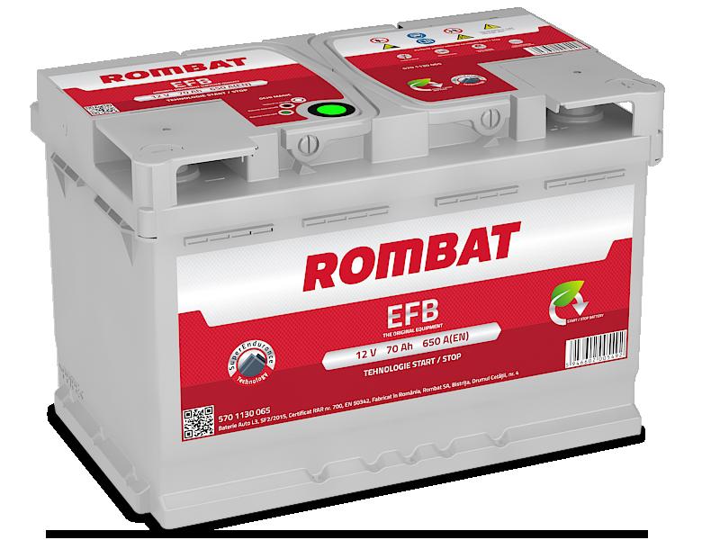 Baterie auto ROMBAT EFB 12V 70AH, 650A