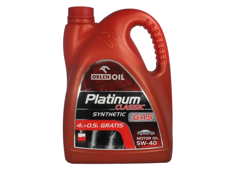 ULEI MOTOR ORLEN PLATINUM CLASSIC SYNTHETIC GAS 5W40 4.5L