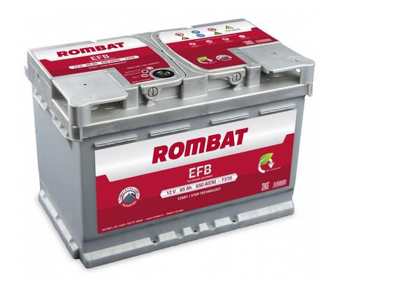 Baterie auto ROMBAT EFB 12V 65AH, 650A