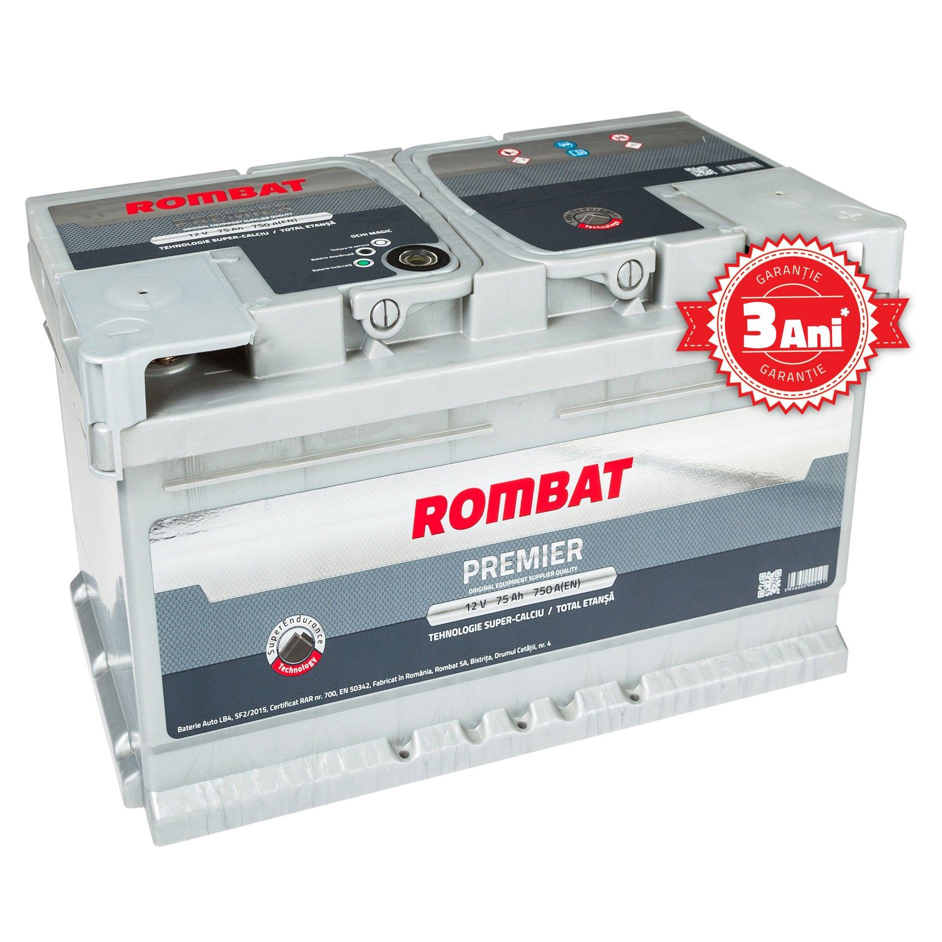 Baterie auto ROMBAT PREMIER 12V 60AH, 580A