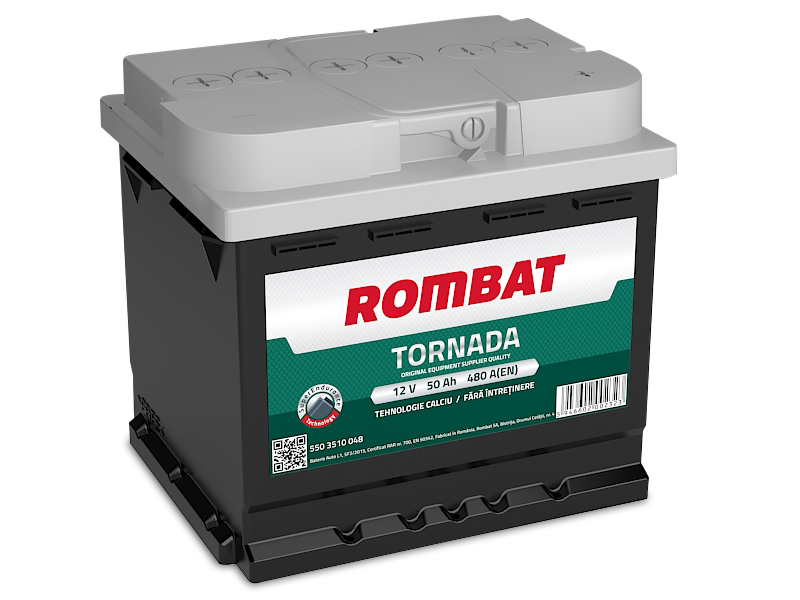Baterie auto ROMBAT TORNADA 12V 50AH, 480A