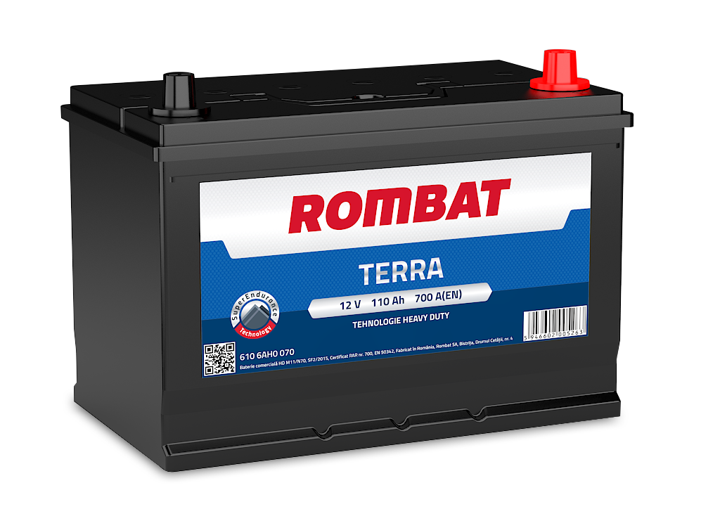 Baterie auto ROMBAT TERRA 12V 110AH, 700A