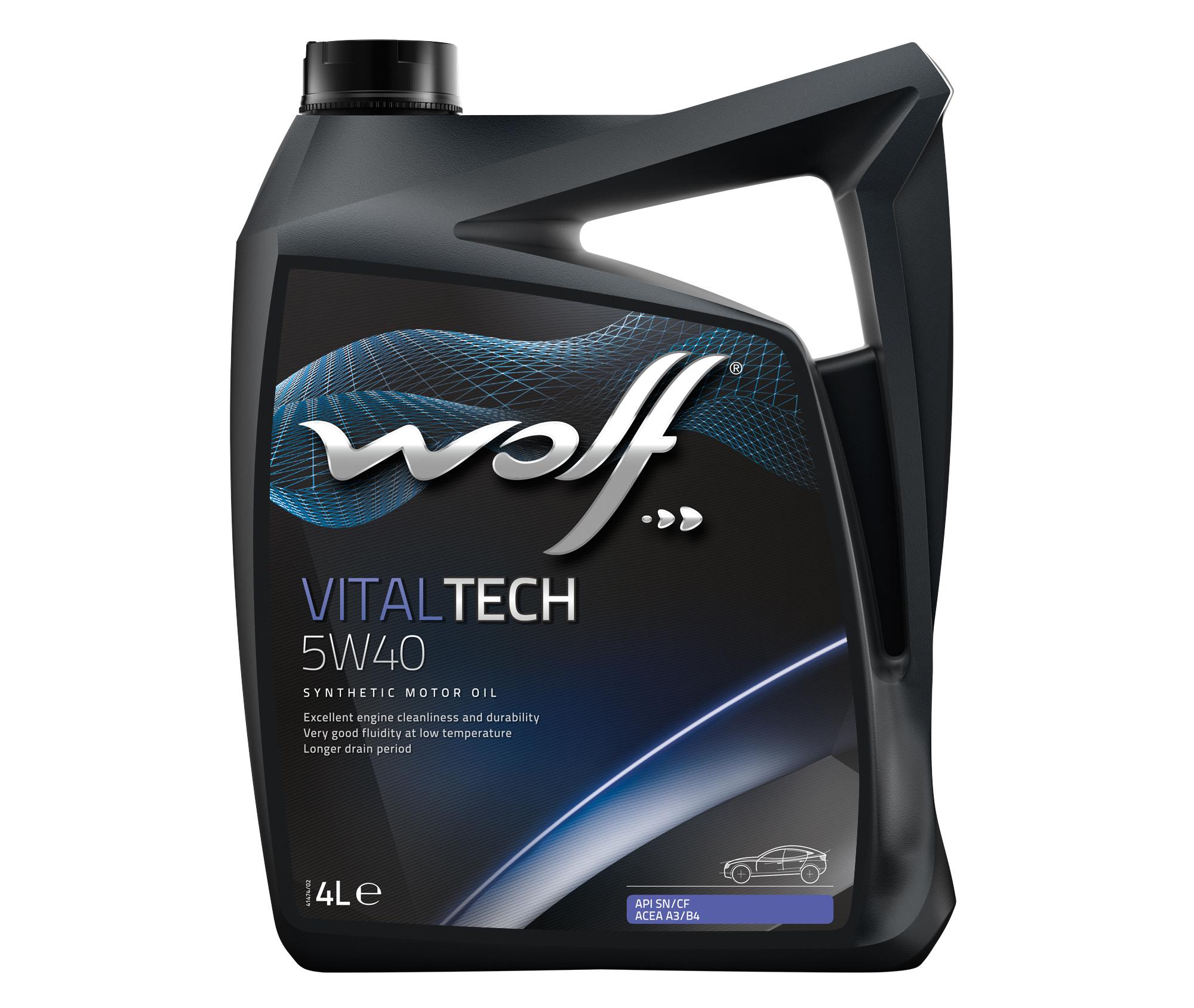 ULEI PENTRU MOTOR WOLF VITALTECH 5W40 4L
