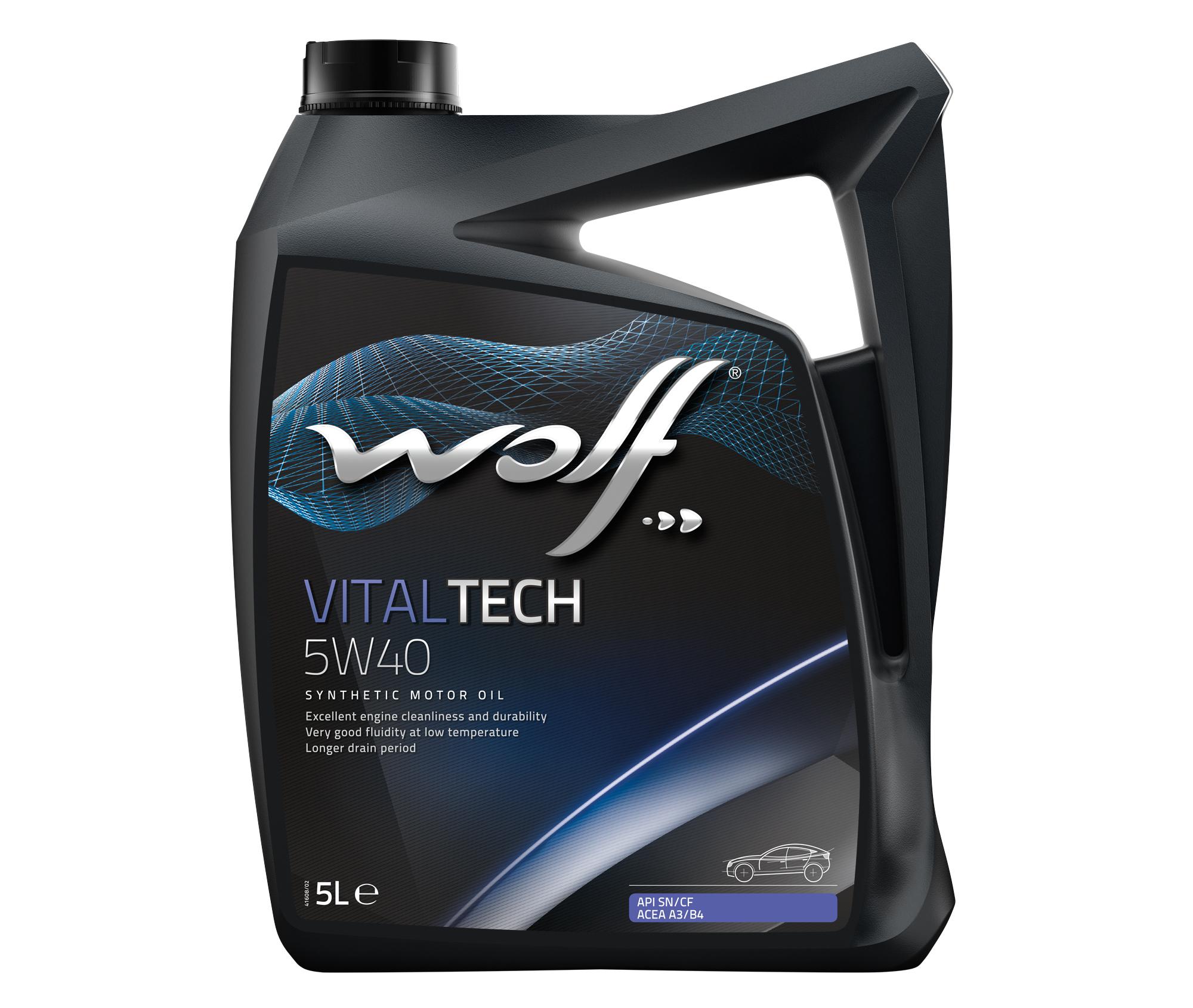 ULEI MOTOR WOLF VITALTECH 5W40 5L