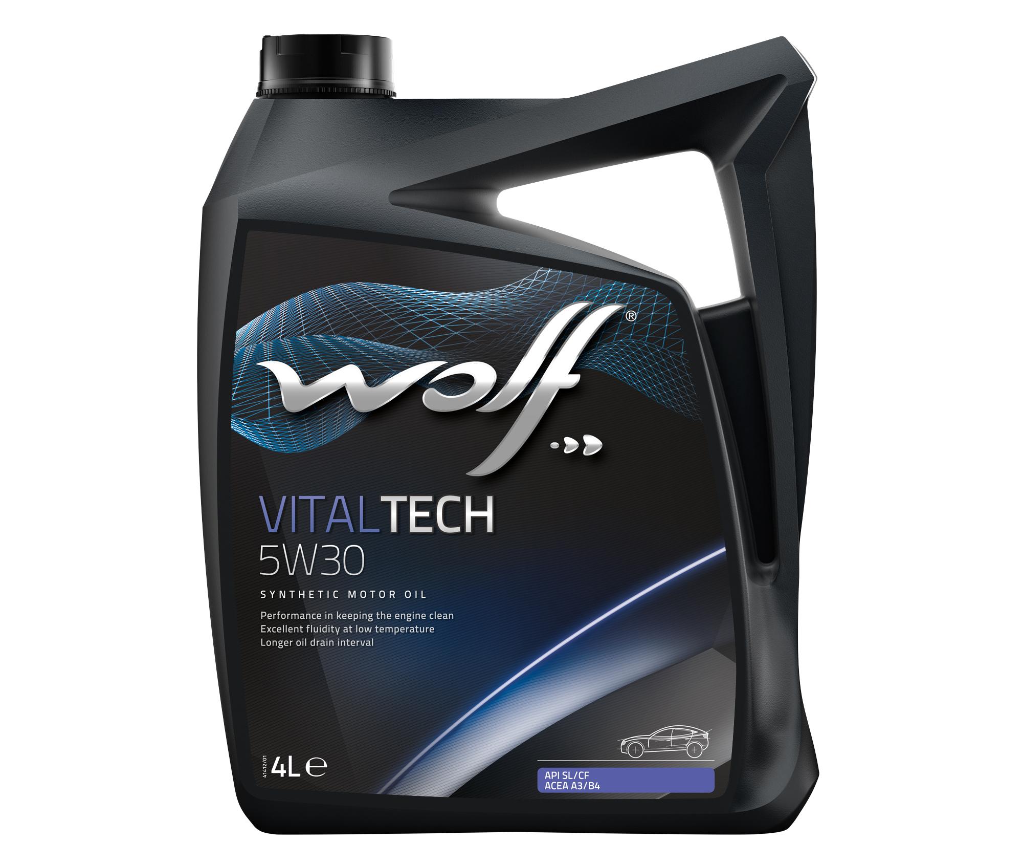 ULEI MOTOR WOLF VITALTECH 5W30 4L