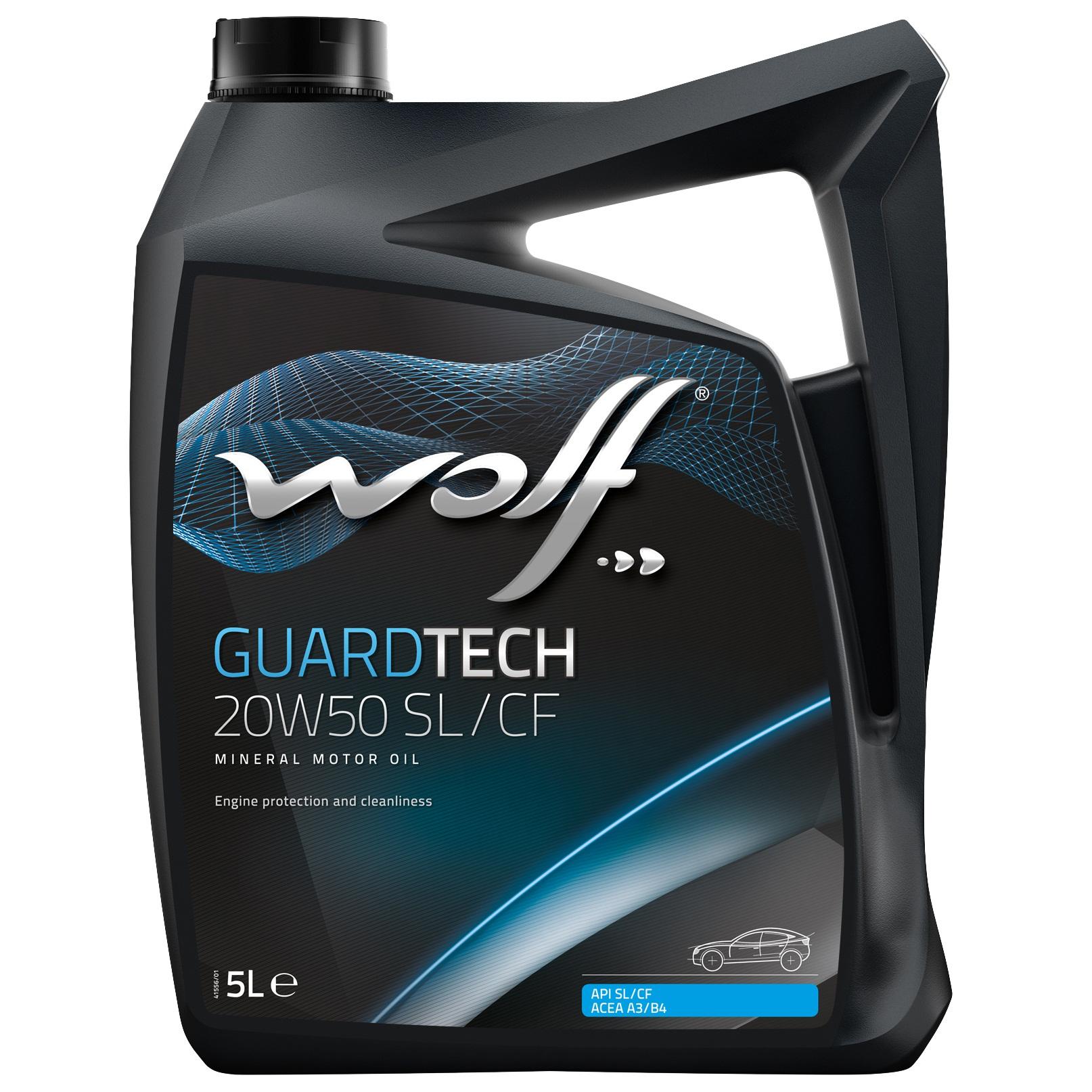 ULEI MOTOR WOLF GUARDTECH SL/CF 20W50 5L