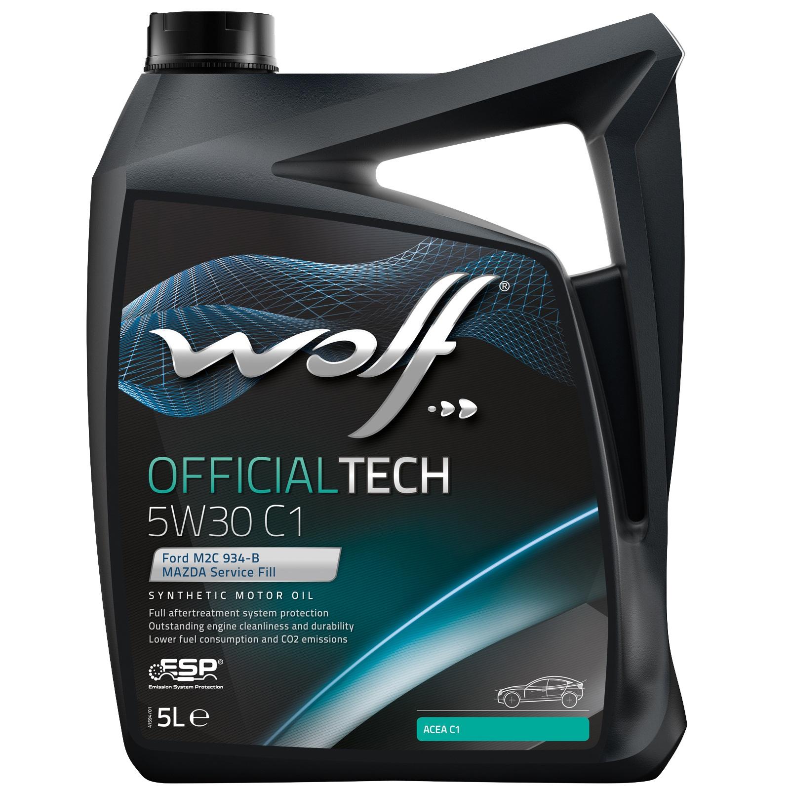 ULEI MOTOR WOLF OFFICIALTECH C1 5W30 5L