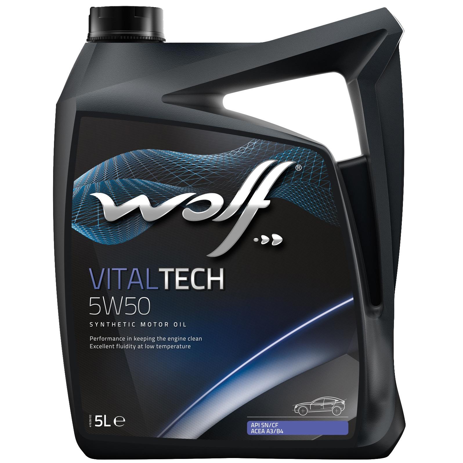ULEI MOTOR WOLF VITALTECH 5W50 5L