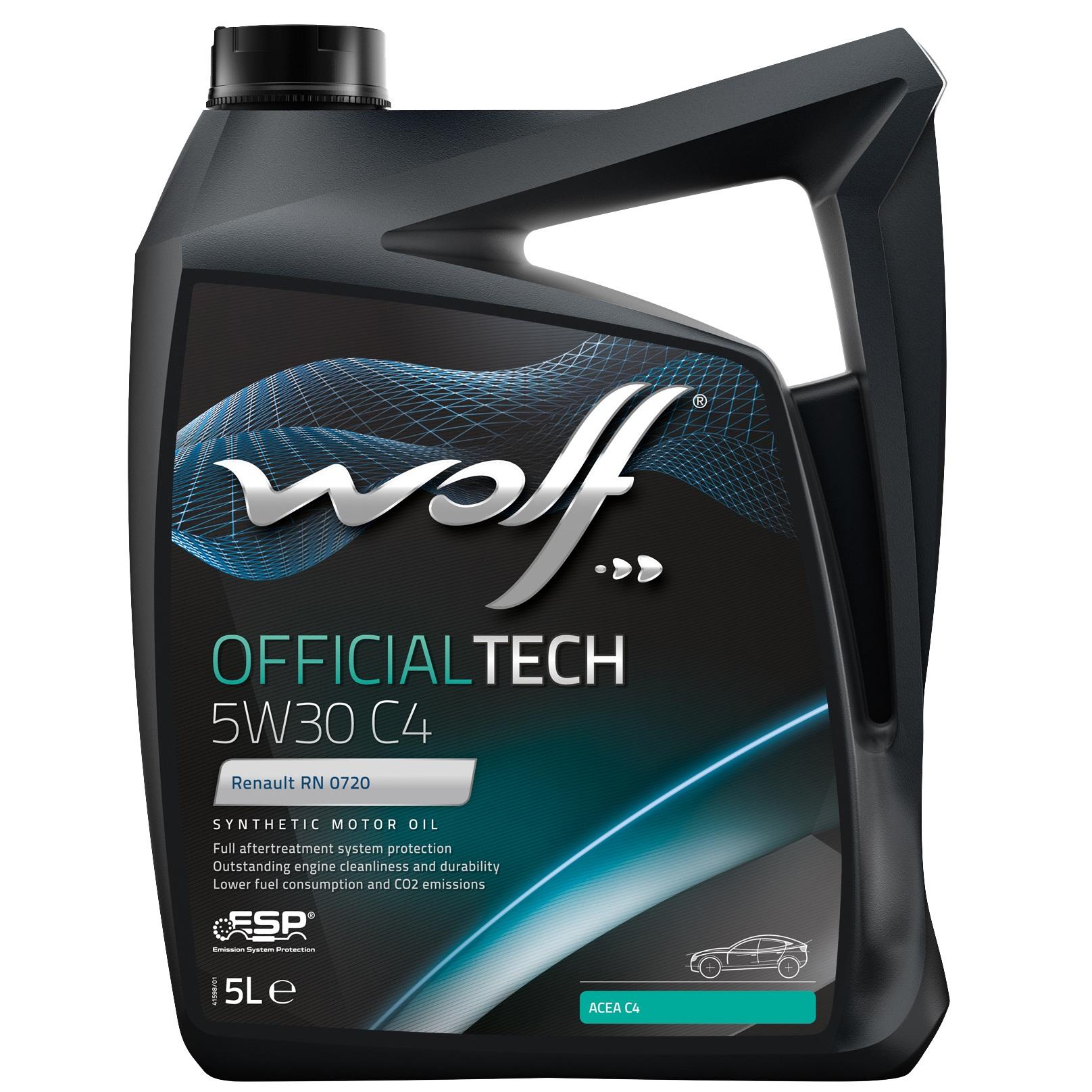 ULEI MOTOR WOLF OFFICIALTECH C4 5W30 5L