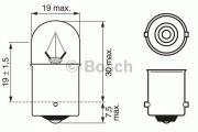 BEC AUTO BOSCH 1987302510 R5W 24V 5W