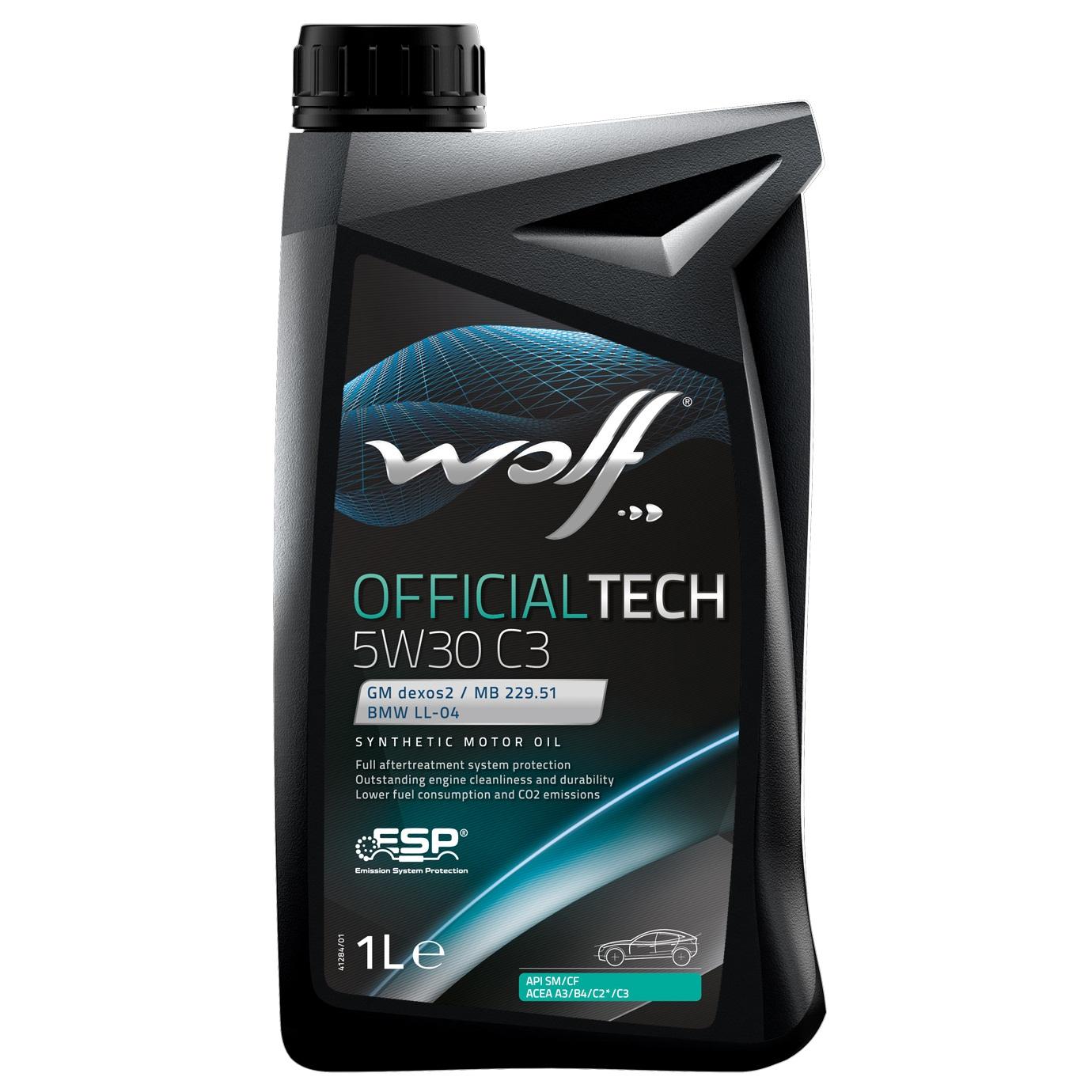 ULEI MOTOR WOLF OFFICIALTECH C3 5W30 1L