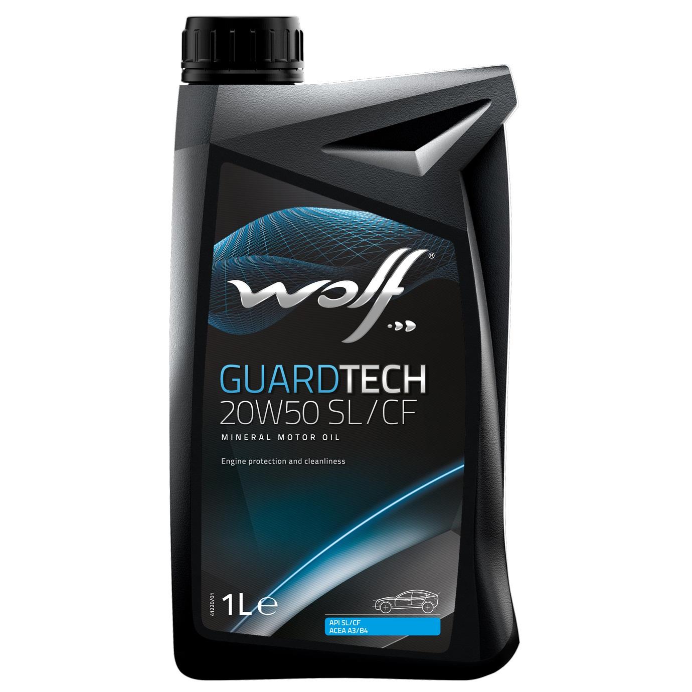 ULEI MOTOR WOLF GUARDTECH SL/CF 20W50 1L