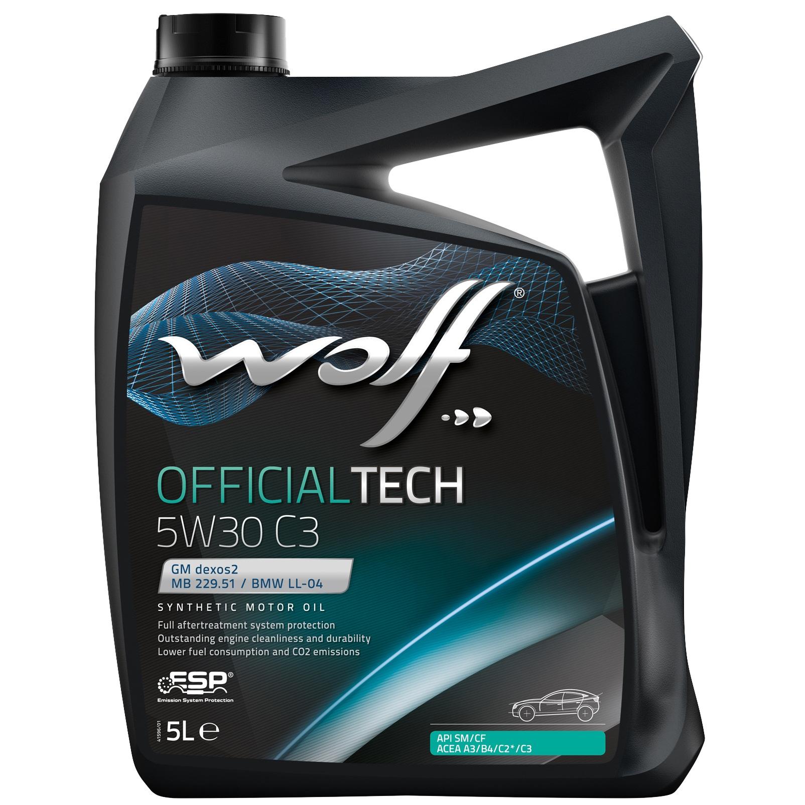 ULEI MOTOR WOLF OFFICIALTECH C3 5W30 5L