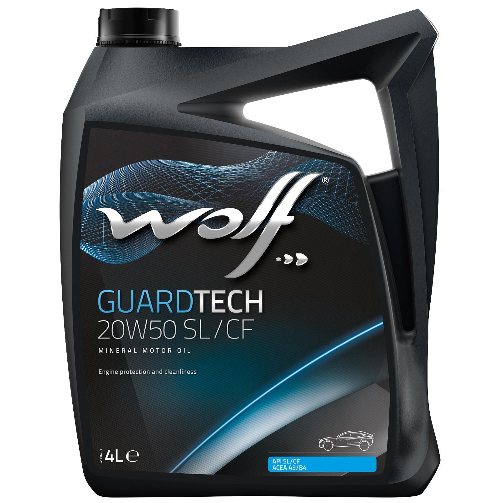 ULEI MOTOR WOLF GUARDTECH SL/CF 20W50 4L
