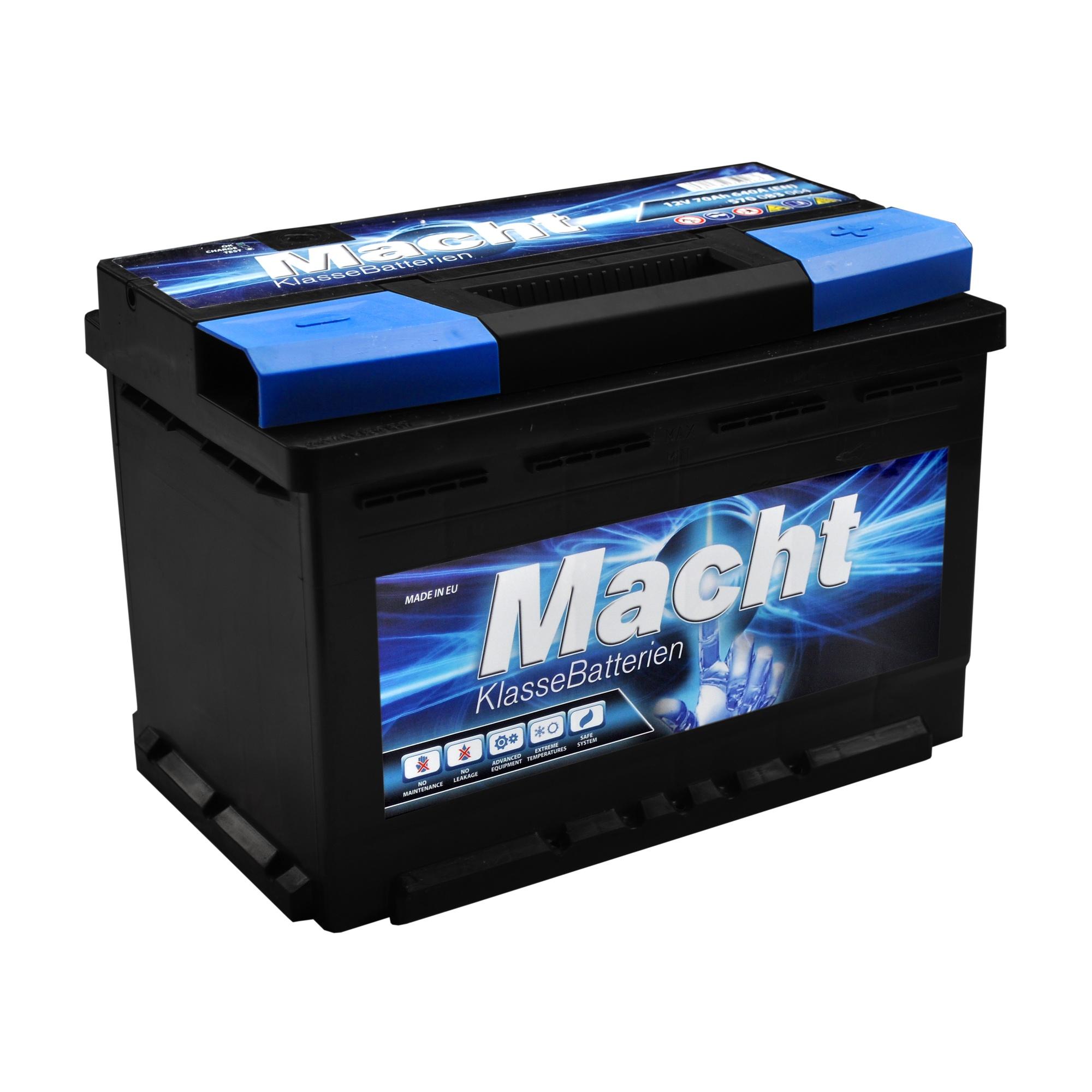 Baterie auto MACHT 25346 12V 70 Ah 580A