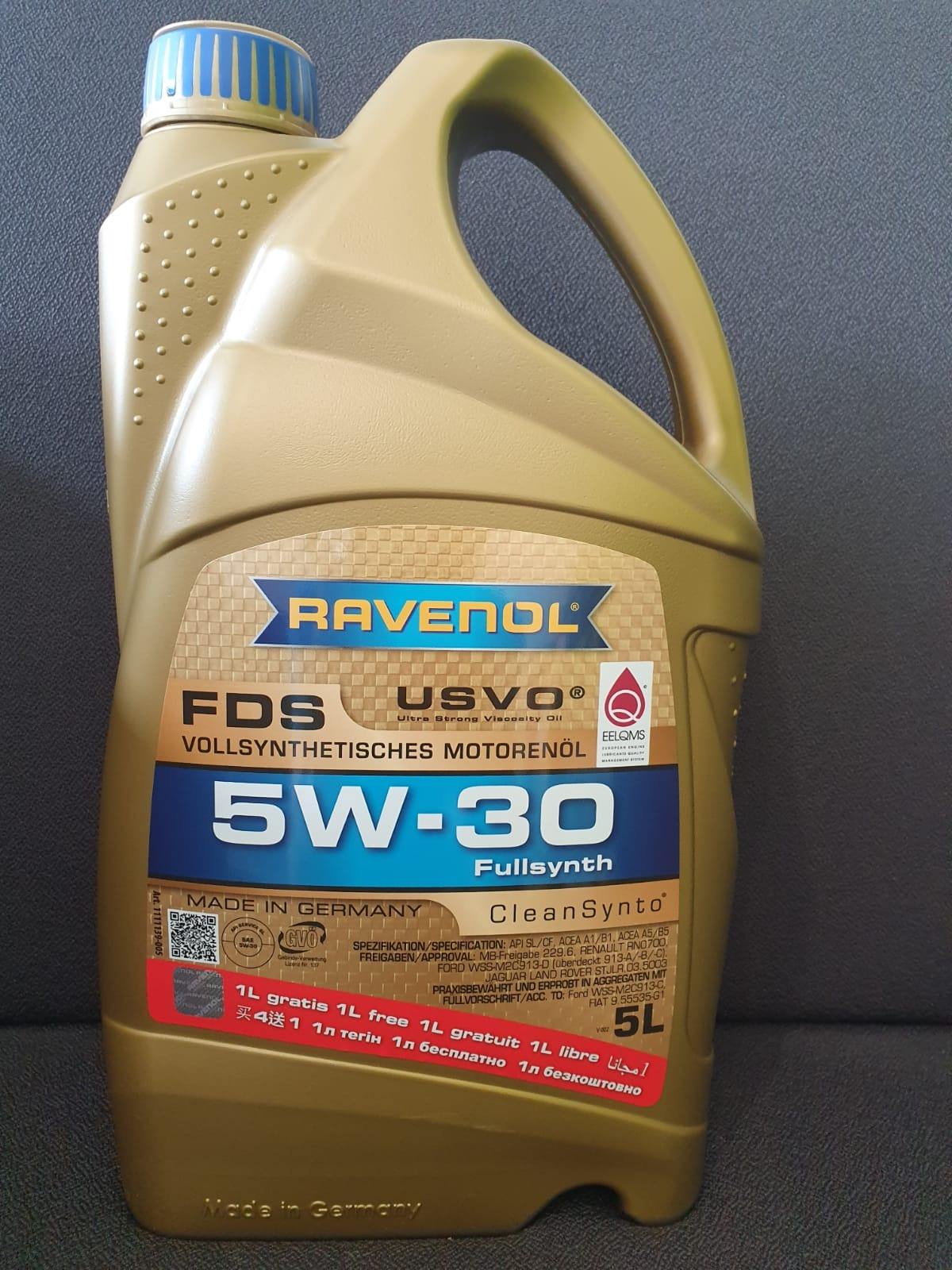 ULEI MOTOR RAVENOL 1111139 FDS USVO 5W30 4L + 1L GRATUIT
