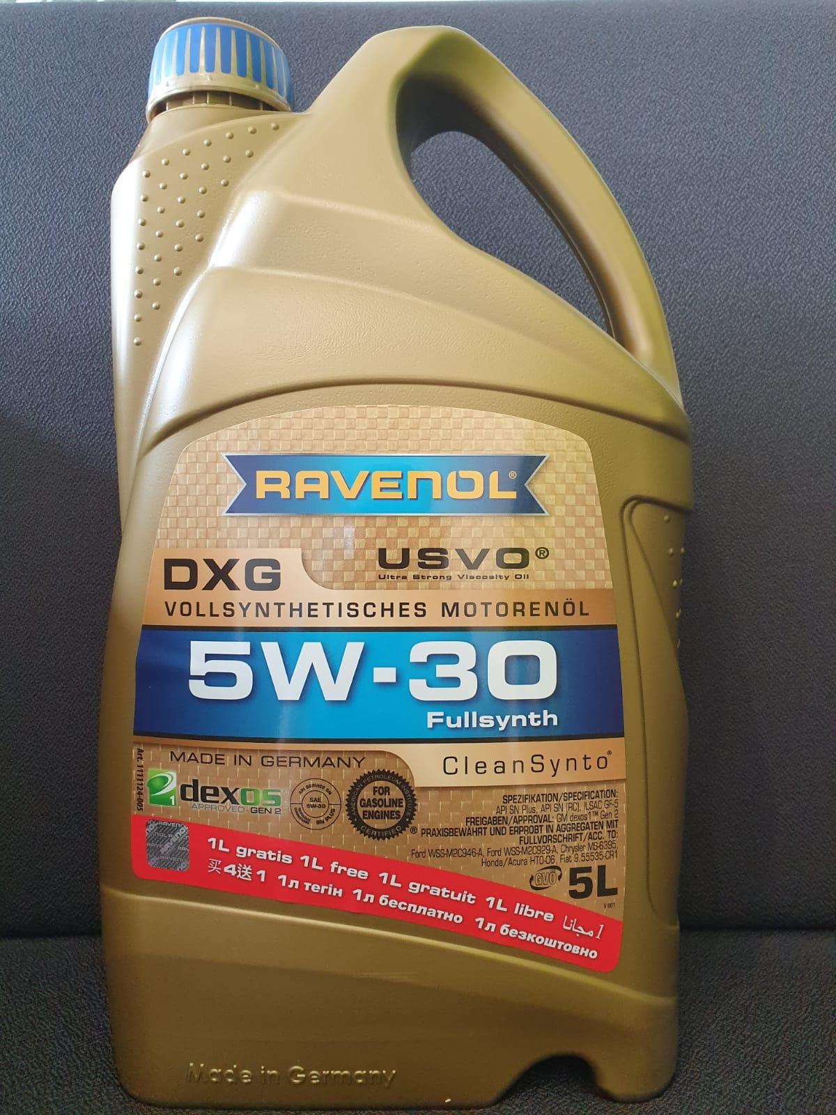 ULEI MOTOR RAVENOL 1111124 DXG USVO 5W30 4L + 1L GRATUIT