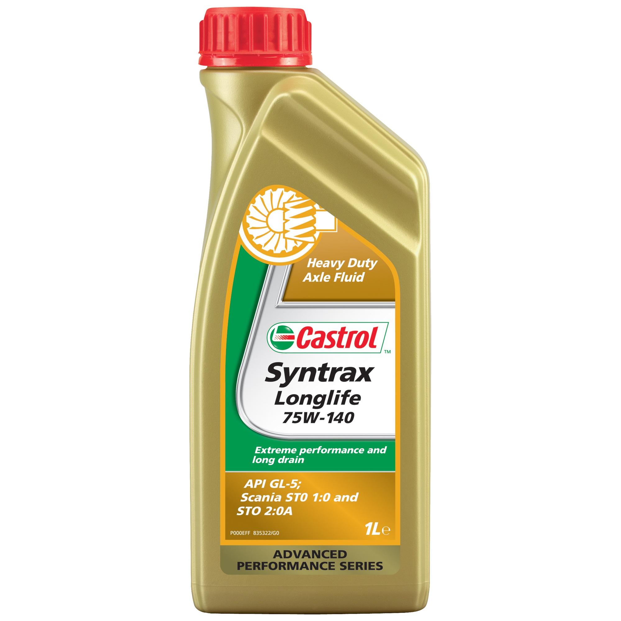 Ulei pentru cutie viteze manuala Castrol Syntrax Long Life 75W90 1L