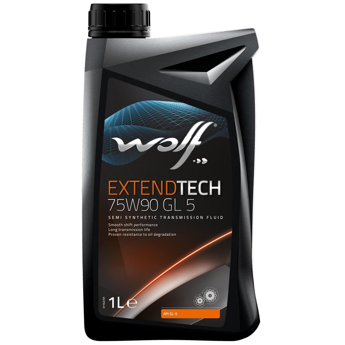 Ulei pentru cutie viteze manuala Wolf Extendtech GL 5 75W90 1L