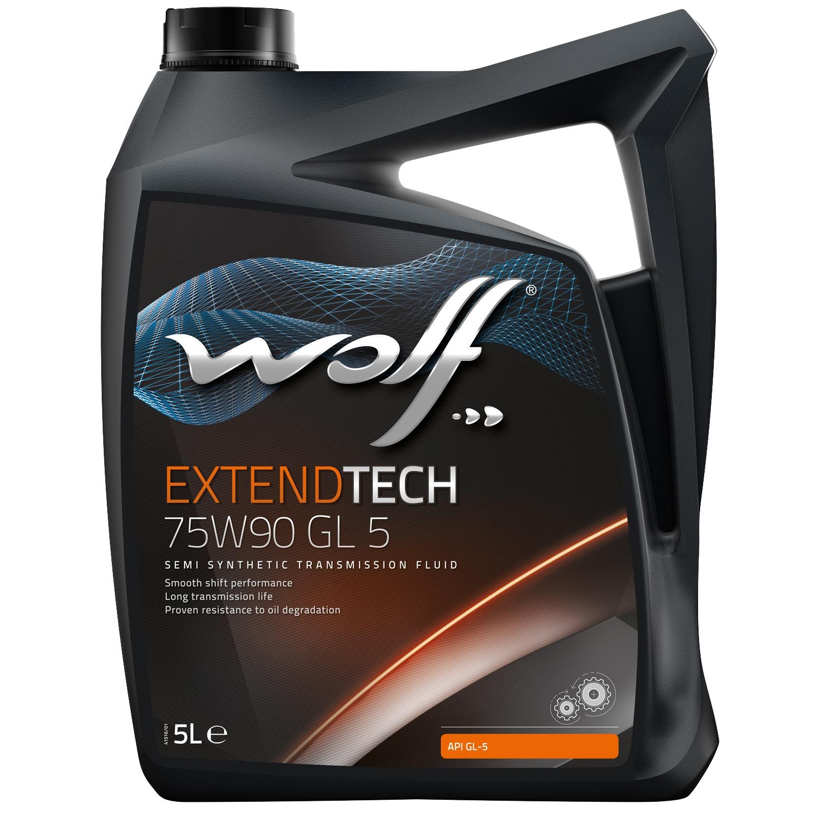 Ulei pentru cutie viteze manuala Wolf Extendtech GL 5 75W90 5L