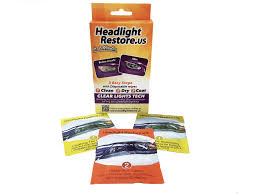 Kit Headlight Restore  Servetele de curatare a farurilor auto