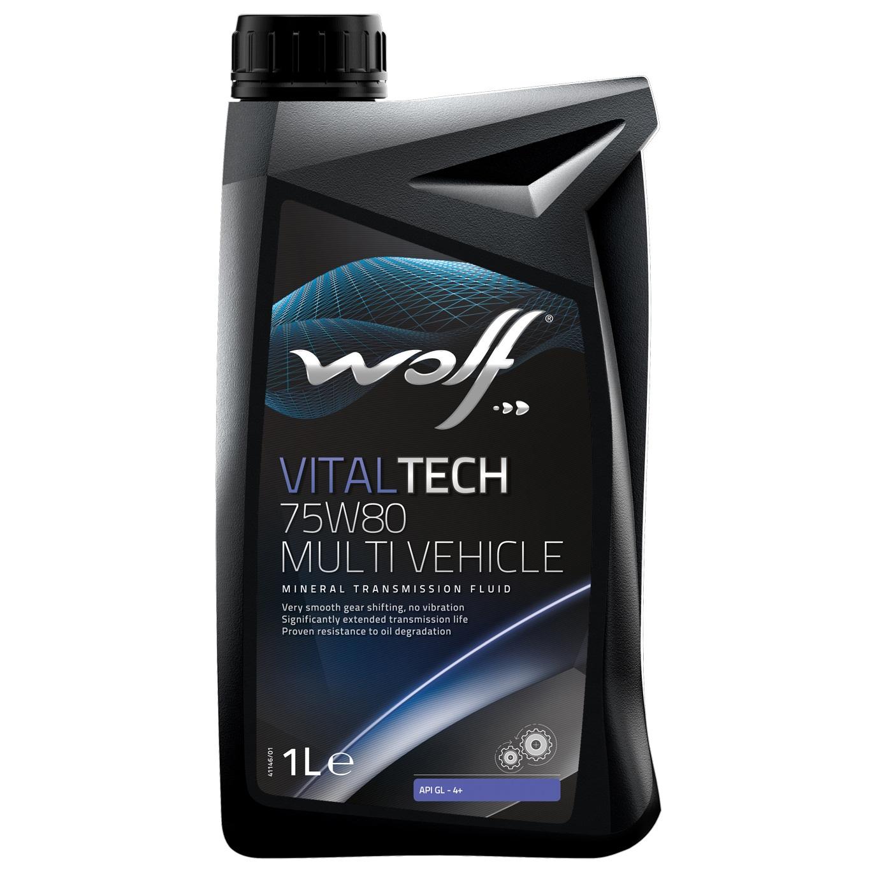 Ulei pentru cutie viteze manuala Wolf Vitaltech Multivehicle 75W80 1L