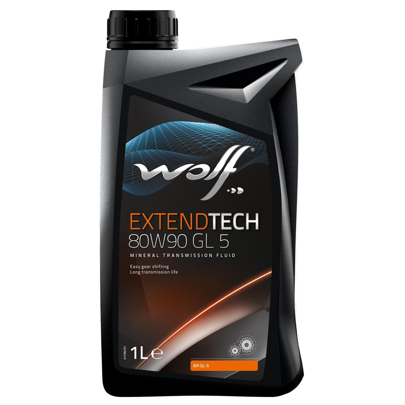 Ulei pentru cutie viteze manuala Wolf Extendtech GL 5 80W90 1L