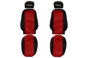 Huse scaun F-CORE CLASSIC RED MAN VOLVO FH 12, FH 16, FL, FM 10, FM 12, FM 7, FM 9 08.93-