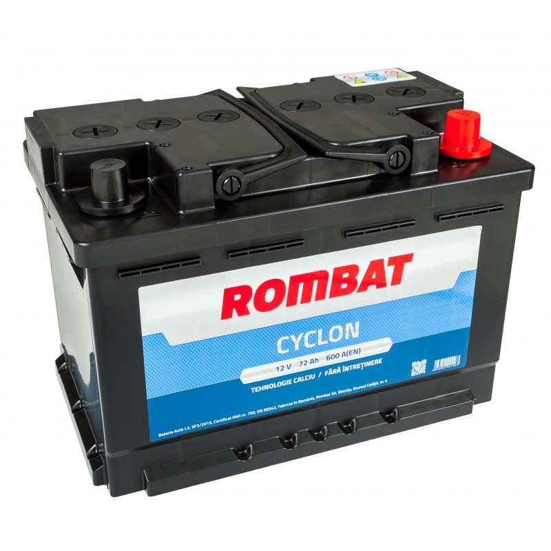 Baterie auto ROMBAT CYCLON 12V 72AH, 600A