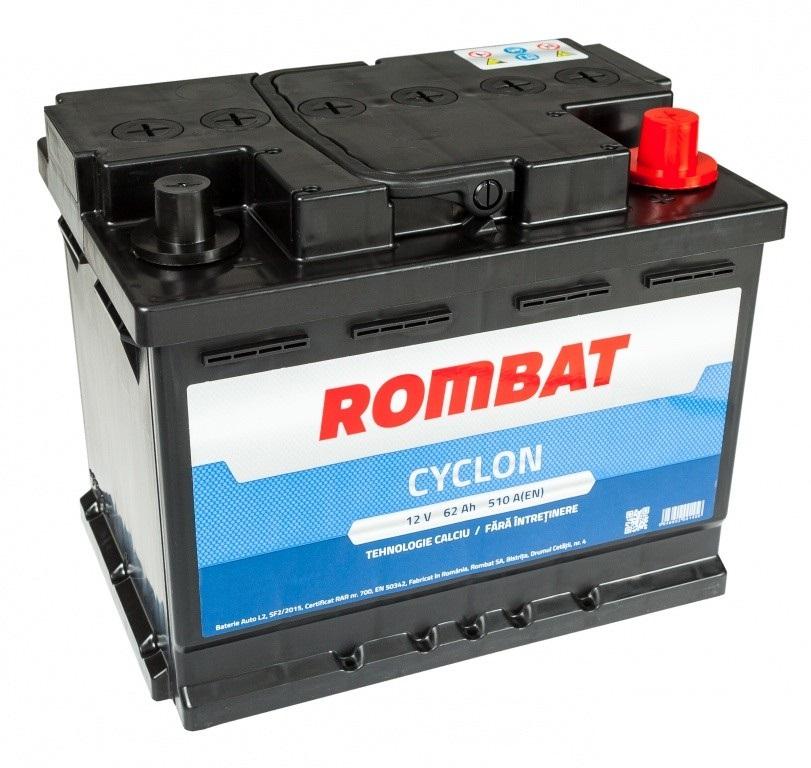 Baterie auto ROMBAT CYCLON 12V 62AH, 510A