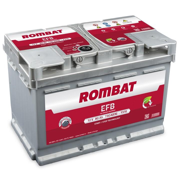 Baterie auto ROMBAT EFB 12V 80AH, 730A