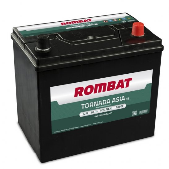 Baterie auto ROMBAT TORNADA ASIA DM 12V 60AH, 500A