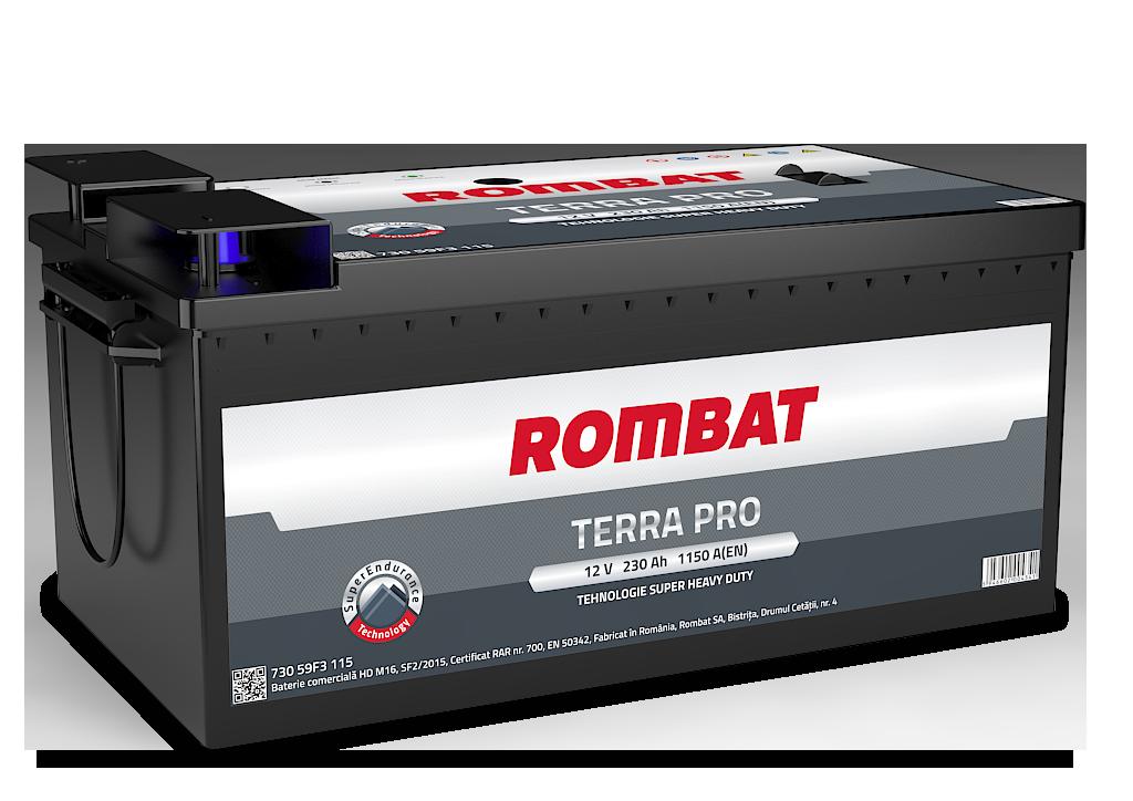 Baterie auto ROMBAT TERRA PRO 12V 230AH, 1150A
