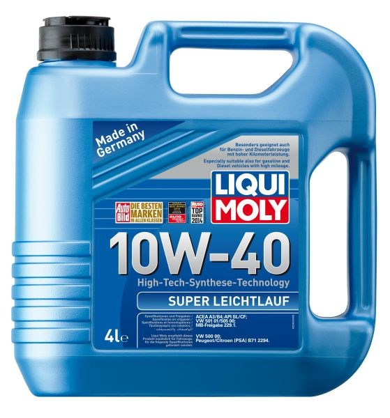 ULEI MOTOR LIQUI MOLY 2625/9504 SUPER LEICHTLAUF 10W40 4L