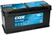 Baterie auto EXIDE EK1050 AGM 12V 105AH, 950A