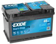Baterie auto EXIDE EL652 EFB 12V 65Ah, 650A